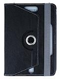 Universal 8 inch 360 Derece Döner Standlı Siyah Deri Kılıf