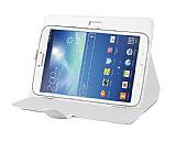 Universal 8 inç Tablet Beyaz Deri Kılıf