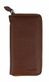 Universal Fermuarlı Fonksiyonel Açık Kahverengi Telefon Çantası