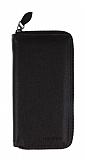 Universal Fermuarlı Fonksiyonel Siyah Telefon Çantası