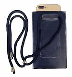 Universal Kartlıklı Askılı Lacivert Telefon Çantası