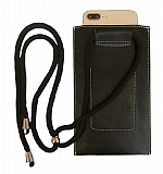 Universal Kartlıklı Askılı Siyah Telefon Çantası
