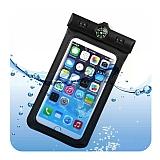 Universal Su Geçirmez Siyah Cep Telefonu Kılıfı