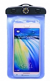 Universal Su Geçirmez Mavi Cep Telefonu Kılıfı