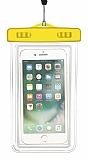 Universal Su Geçirmez Cep Telefonu Sarı Kılıfı