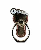 Universal Taşlı Ayak Gold Yüzük Telefon Tutucu
