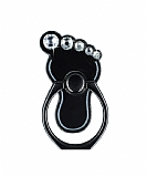 Universal Taşlı Ayak Siyah Yüzük Telefon Tutucu