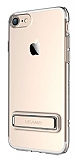 Usams iPhone 7 / 8 Standlı Gold Silikon Kılıf