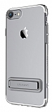 Usams iPhone 7 / 8 Standlı Dark Silver Silikon Kılıf