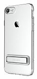 Usams iPhone 7 / 8 Standlı Silver Silikon Kılıf