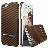 Verus Carbon Stick iPhone 6 / 6S Standl� Copper Gold Rubber K�l�f