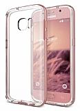 Verus Crystal Bumper Samsung Galaxy S7 Rose Gold Kılıf