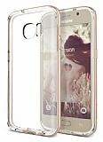 Verus Crystal Bumper Samsung Galaxy S7 Shine Gold Kılıf