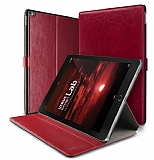 Verus Dandy Layered Leather iPad Pro 12.9 K�rm�z� K�l�f
