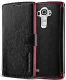 Verus Dandy Layered Leather LG G4 Siyah Kılıf