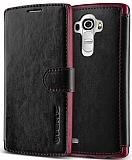 Verus Dandy Layered Leather LG G4 Siyah Kılıf