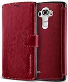 Verus Dandy Layered Leather LG G4 K�rm�z� K�l�f