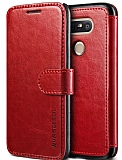 Verus Dandy Layered Leather LG G5 Kırmızı Kılıf