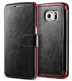 Verus Dandy Layered Leather Samsung Galaxy S6 Edge Siyah Kılıf