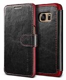 Verus Dandy Layered Leather Samsung Galaxy S7 Edge Siyah K�l�f
