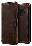 VRS Design Dandy Layered Leather Samsung Galaxy S9 Kahverengi Kılıf