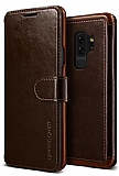 VRS Dandy Layered Leather Samsung Galaxy S9 Plus Kahverengi Kılıf