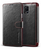 Verus Dandy Layered Leather Samsung N9100 Galaxy Note 4 Siyah Kılıf