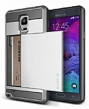Verus Samsung N9100 Galaxy Note 4 Damda Slide Light Silver Kılıf