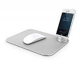 Verus Slate Metal Silver Mouse Pad