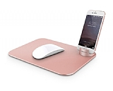 Verus Slate Metal Rose Gold Mouse Pad
