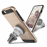 Verus Verge Magnetic Flat iPhone 6 Plus / 6S Plus Gold K�l�f ve Havaland�rma Tutucu