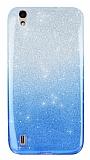 Vestel Venus 5000 Simli Mavi Silikon Kılıf