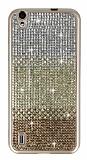 Vestel Venus 5000 Taşlı Geçişli Gold Silikon Kılıf
