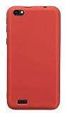 Vestel Venus Go / E2 Plus Mat Kırmızı Silikon Kılıf
