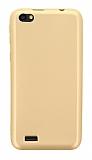 Vestel Venus Go / E2 Plus Mat Gold Silikon Kılıf