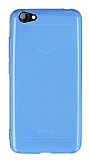 Vestel Venus E3 Ultra İnce Şeffaf Mavi Silikon Kılıf