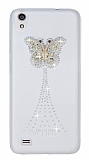 Vestel Venus V3 5040 Kelebek Taşlı Şeffaf Rubber Kılıf