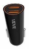 Vidvie CC505S Çift Çıkışlı Siyah Araç Şarj Adaptörü