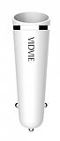 Vidvie CC506S Çift Çıkışlı Beyaz Araç Şarj Adaptörü