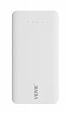 Vidvie PB719 1000 mAh Çift Çıkışlı ve Çift Girişli Beyaz Powerbank