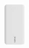 Vidvie PB719 10000 mAh Çift Çıkışlı ve Çift Girişli Beyaz Powerbank