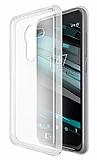 Vodafone Smart 7 Pro �effaf Beyaz Silikon K�l�f