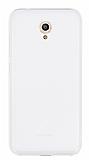 Vodafone Smart 7 Style Şeffaf Beyaz Silikon Kılıf