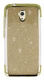 Vodafone Smart 7 Style Simli Gold Silikon Kılıf