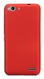 Vodafone Smart Ultra 6 Mat Kırmızı Silikon Kılıf