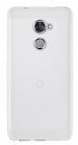 Vodafone Smart V8 Şeffaf Beyaz Silikon Kılıf