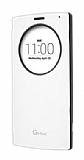 Voia LG G4 Beat Orjinal Uyku Modlu Pencereli Beyaz Deri Kılıf