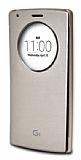 Voia LG G4 Orjinal Uyku Modlu Pencereli Gold Kılıf