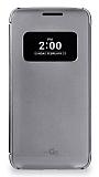 Voia LG G5 Uyku Modlu Pencereli Dark Silver Kılıf