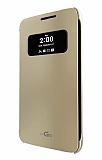 Voia LG G5 Uyku Modlu Pencereli Gold Kılıf